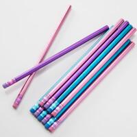 Personalized Girls Pencils - Trendy Metallic