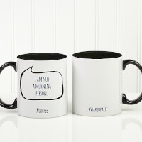 Personalized Social Media Coffee Mug - #Hashtag..