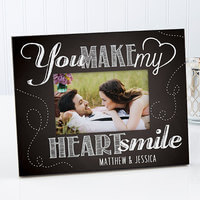Personalized Photo Frame - You Make My Heart Smile