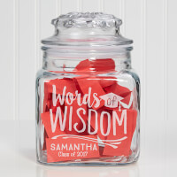 Personalized Words Of Wisdom Graduation Jar