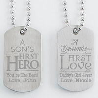 Personalized Dog Tag Set Of Two - First Hero,..