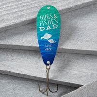 Personalized Fathers Day Fishing Lure - Hugs &..