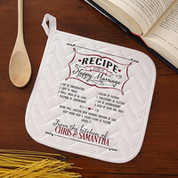 Personalized Wedding Potholder - Recipe For A..