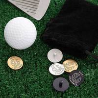 Personalized Golf Ball Markers Set With Initial..