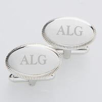 Personalized Silver Cufflinks - Monogram Elite..