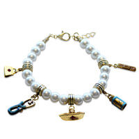 Nurse Charm Bracelet In Gold