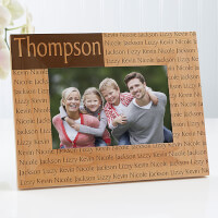 Family Name Personalized Wood Picture Frames - 4x6