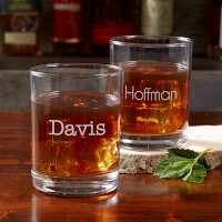 Personalized Old Fashioned Glasses - Classic