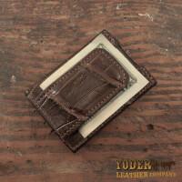 Amish Crafted Cognac Alligator Skin Money Clip..