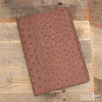 Amish Crafted Brown Ostrich Skin Business Padfolio