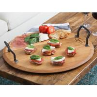 Provence Platters: Wine Cask Serving Platter
