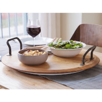 Provence Platters: Rotating Wine Cask Serving..
