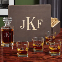 Classic Monogram Custom Decanter And Rocks..