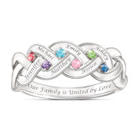 Together For Always Engraved Birthstone Family..