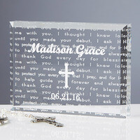 Walk With Jesus Personalized Baptism Gift Keepsake