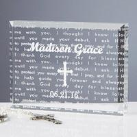 Walk With Jesus Personalized Baptism Gift Keepsake