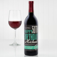 Personalized Birthday Wine Bottle Label -..