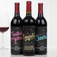 Personalized Wine Bottle Labels - Congratulations