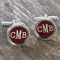 Custom Monogram Cufflinks
