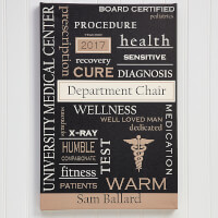 Personalized Doctor Art 12x18 Custom Word Art..