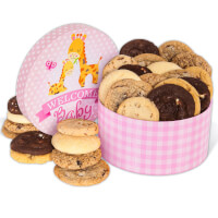 Welcome Baby Girl Cookie Gift Box