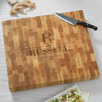 Personalized Butcher Block Cutting Board - Name..