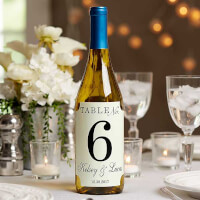 Personalized Wedding Table Number Lablels