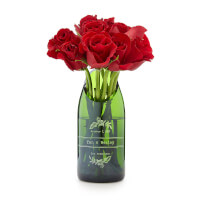 Personalized Champagne Wedding Vase