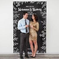 Personalized Wedding Photo Backdrop - Chalkboard