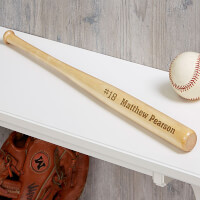 Personalized Mini Baseball Bat - Name & Number