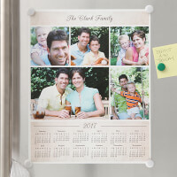 Photo Collage Personalized Calendar Poster