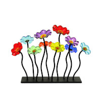 Glass Flower Garden Centerpiece