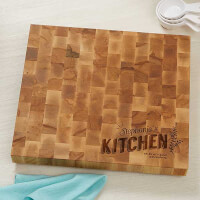 Personalized Butcher Block Cutting Board - Her..
