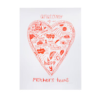 Anatomy Of A Parents Heart Screen Print
