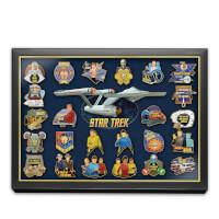 STAR TREK 24K Gold-Plated 50th Anniversary Pin..