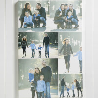 Custom Photo Collage Canvas Print - 126x20