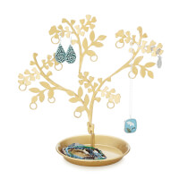 Dancing Brass Jewelry Tree
