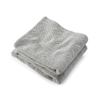 Brahms Mount: Cotton Blanket With Herringbone -..