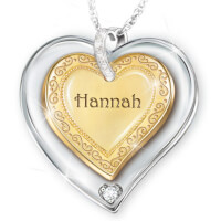 Name-Engraved Heart Pendant Necklace For..