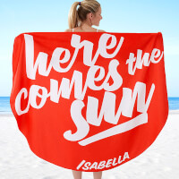 Personalized Round Beach Towels - Fun Quotes