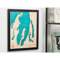 Lake Art: 14 X 18 Custom 3D Wood Map