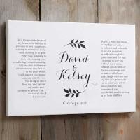 Custom Wedding Vows Canvas Print - 20x30