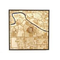 Stadium Map Art: Laser Cut Stadium City Map -..