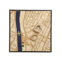 Stadium Map Art: Laser Cut Stadium City Map -..