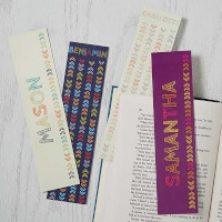 Personalized Paper Bookmarks - Stencil Name