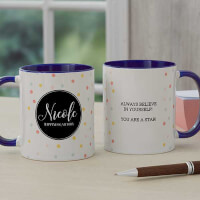 Name Meaning Custom Coffee Mug - 11oz Blue