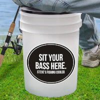 Personalized Fishing Bucket Cooler & Seat