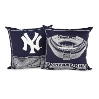 Baseball Stadium Blueprint Pillow - Team Colors
