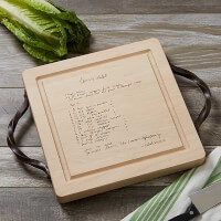 Handwritten Recipe Engraved Cutting Board With..