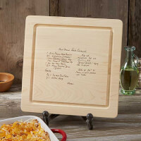 Handwritten Recipe Engraved Wood Cutting Board